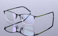 Wholesale 2016 New Half Rimless Eyeglasses Frames Men Women New Fashion Spectacle Frame Clear Lenes RS Eyewear Glasse Green Coffee Gun Red