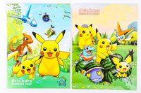 Wholesale PrettyBaby pikachu coloring book painting drawing book Animal cartoon poke go coloring books Relieve Stress For Children stickers x mas gift
