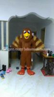 Wholesale The real high quality brown plush mascot costume hot sell turkey turkey mascot adult type