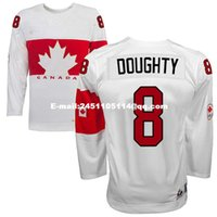 Cheap Retro throwback #8 DREW DOUGHTY Team Canada Jersey OLYMPIC HOCKEY free shipping Customize any size player name number
