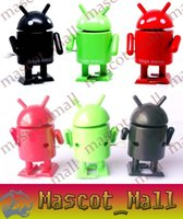 Wholesale DY199 Hot Wind up Google Android Robot Green Black Yellow and Red figures Toys For Baby Kid Children Factory price