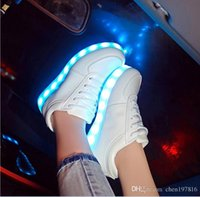 led point - Fashion Colorful LED shoes high luminous casual shoes Korean student shoes fashion lovers shoes