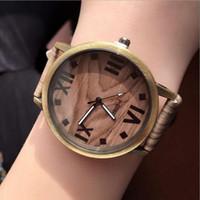 wooden hook - Feifan Women s Retro Wooden Grain Watch Quarzt Waist Bracelet Watch Leather Watches Relogio Feminino Round Stainless Steel Dial Band
