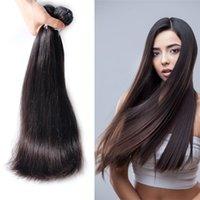 Wholesale Peruvian Indian Malaysian Mongolian Cambodian Brazilian Straight Human Hair Weave Hair Bundles Cheap Human Hair Extensions Natural Color B