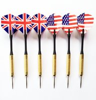 american darts - Copper Plating Dart Needle Metal Dart Needle Dart Suits that Plunge into the Balloon with British and American flag g