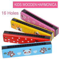 Wholesale TIANS YY1007 Kids educational toys child cartoon harmonicas wooden musical instruments mouth organ birthday gift merry chrismas gifts