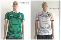 Wholesale TOP Thai AAA Grade CHICHARITO Mexico retro soccer jersey green white soccer jersey Mexico football shirt rugby jerseys
