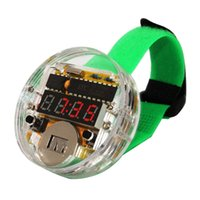 awesome digital watches - High Quality SCM Awesome Transparent LED Watch DIY LED Digital Tube Wristwatch Electronic Watch DIY Kit Set