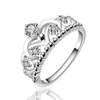 fashion jewelry usa - silver plated rings anillo USA EURO Style Fashion Silver plated crown only crown Ring Jewelry