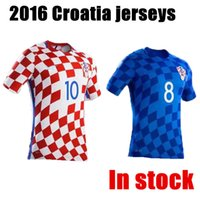 slim away - TOP Croatia football jersey Top Thai quality Croatia Hrvatska home away soccer jerseys Plaid Legion Red White mens shirt