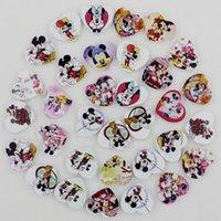 Wholesale 100pcs Colorful Lead free Heart Wood Beads for Bracelet Necklace x18mm k04011