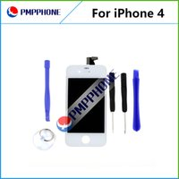 Pour iPhone 4 4G verre blanc Lcd Affichage à l'écran tactile LCD Assemblée Digitizer Outils de remplacement Freeshipping