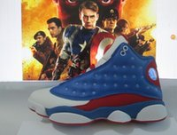 america cow - retro Captain America blue white retro s men basketball shoes sports sneakers high boots high quality size