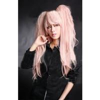 Clip de fibra de las mujeres en las colas de caballo Cosplay Anime Cosplay Party Wigs Long Pink