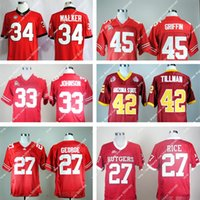 archie manning football jersey - Rutgers Scarlet Knights Ray Rice Pat Tillman Ohio State Buckeyes Archie Griffin Pete Johnson Football Throwback Red Man Jerseys