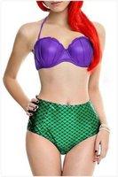 best bikini style - 2016 Best Selling Good Quality Sexy Young Girl Swimwear Mermaid Style Bikini Set Two Piece High Waisted Bathing Suit Rubber Swimsuit Set