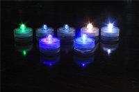 Wholesale Set of Submersible Waterproof Wedding Underwater Tea Light Sub LED Light for Decoration Wedding Party Bar