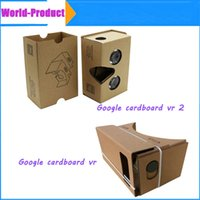 Wholesale Google Cardboard vr vr Mobile Phone Virtual Reality D Glasses Unofficial Cardboard Google Cardboard VR Toolkit DIY D Glasses