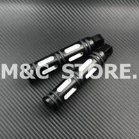 Wholesale Brand New Black Motorcycle CNC Billet Aluminum Cut Foot Rest Pedal Footpeg For Harley Sportster Touring Dyna Softail