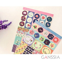 Wholesale 4pcs set Flowers series scrapbooking stickers for notebook diary stationery sticker for kids material School supplies tt