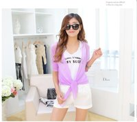 Wholesale Summer Women Poncho Super Light Sun Protection Women Clothes Colorful Women Clothing In Free Size Women Cape Convinent Carrry Top Shirts