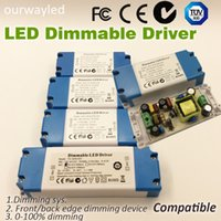 Wholesale 90 V V W LED Dimmable Driver Lighting Transformer Compatible with Front Back Edge dimming Device Dimming TUV SAA FCC
