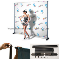 banner stands for trade shows - x8 Step And Repeat Backdrop Telescopic Pop Up Banner Stand System For Trade Show