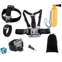 Wholesale Gopro Accessories Set Helmet Harness Chest Belt Head Mount For Go pro hero xiaomi yi Sj4000 sjcam GS25