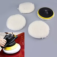 Wholesale 7 Inch Beige Polisher Buffer Soft Wool Bonnet Pad With Loop for Car Polishing Buffing In Stock New