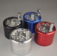 aluminum grounding - Dry herb grinder ecig grind crusher Aluminum Electric Tobacco Grinder Crusher Herb Spice for Smoke Grinders