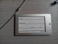 Wholesale aluminium travel lage tag metal lage tag with pvc coated steel wire rope miniumum order