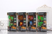 anime mic - NEW Avengers IronMan Batman superman spider anime cartoon in ear wired mm earphone model headset for MP3 MP4 phone with mic
