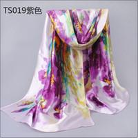beach head scarf - 2016 Top Brand Scarf High Quality Silk Scarf Sunscreen head chiffon scarf women s Oil painting pattern design Beach shawl