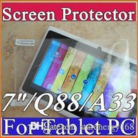 Wholesale Original Screen Protective Film Protector Guard for quot Allwinner A13 A23 A33 AMT7021 AMT7029 Q88 Android Tablet PC C PG