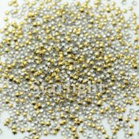 Wholesale False nails decorated star shape MM pack gold color nails art decorations Rhinestones amp Decorations
