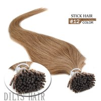 beautiful hair tips - Stick Human Hair quot quot Keratin Hair Extensions Indian Human I tip Hair Color For Beautiful Ladies