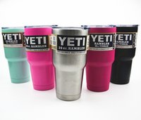 Wholesale Colors YETi Cup Stainless Steel Oz Yet Cups Cooler Vehicle Beer Mug Bilayer Vacuum Insulated Metal Cup
