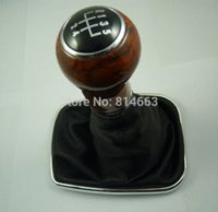 Wholesale New Speed Wooden Gear Shift Knob Gaitor Boot For VW Jetta HDSQVW008