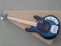 Wholesale Musicman strings bass music man stingRay blue electric bass guitar with V Battery active pickups