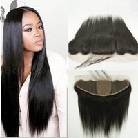 Cheap FreeShipping 13x4 Silk Base Lace Frontal Closure With Baby Hair 8A Virgin Human Hair Brazilian Silk Top Straight Lace Frontal Ear To Ear