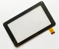 оптовых дюймовые панели-Brand New сенсорный экран Digitizer стекло дигитайзера панель Замена для 7-дюймовый 86V телефон Call A13 A23 A33 Tablet PC Ремонт Часть