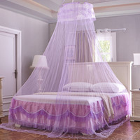 adult crib - White Color Round Dome Bed Canopy Bedcover Mosquito Net Bug Netting Kid Bedding Lace Soft Canapy Prince Boy Girl Children Crib Netting