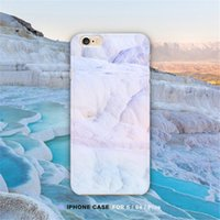 apple iphone turkey - Fashion Granite Marble Phone Cases for iPhone Case For iphone S Plus Funda Back Cover Turkey Pamukkale Cartoon Capa Coque