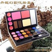 Wholesale 3 Dani blue Symphony Eyeshadow Makeup Kit Eyeshadow blush powder lipstick eyebrow Makeup Palette set