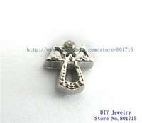 Wholesale angel wholesales FC1055 floating locket charm for living floating locket