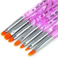 Wholesale 7PCS Lady Acrylic Nail Art Tips UV Gel Builder Set Painting Brush Design Pen DIY