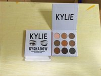 Wholesale newly hot Kylie Jenner KyShadow color pressed powder eye shadow kit with retail box eyelinre chocolate bar eyeshadow palette