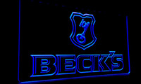 becks light beer - LS070 b Beck s Becks Beer Sign Bar Neon Light Sign