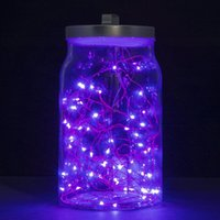 battery operated led rope lights - String Lights Set of Micro LEDs Super Bright Cool White Wire Rope Lights Battery Operated on Ft Long Copper Color Ultra Thin String