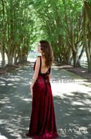 art alternative - Backless Velvet Evening Dresses Gown Art Deco Vintage Inspired Unique Dress Red Alternative Colors